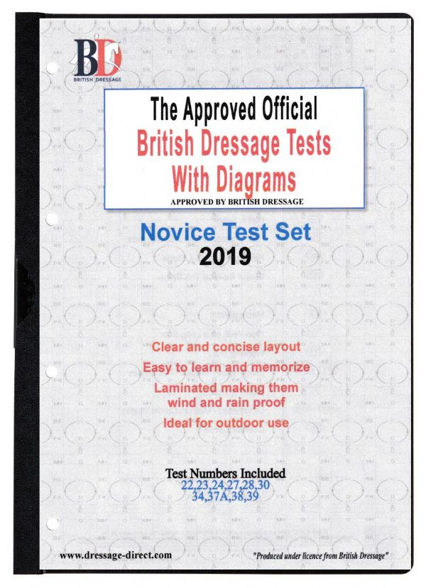 British Dressage Novice Test Set